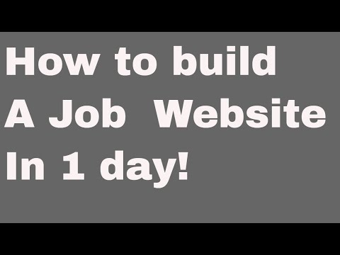 Web development tutorial - How to build a job platform - 2 - Installation and setup