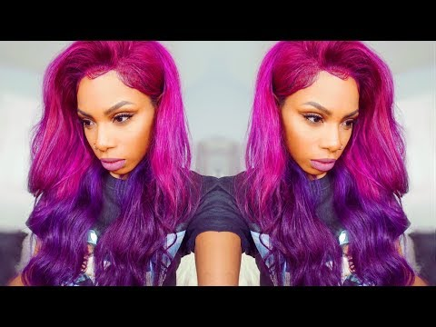 🦄 PINK TO PURPLE UNICORN HAIR! AliExpress Beauty Forever Review Back to school