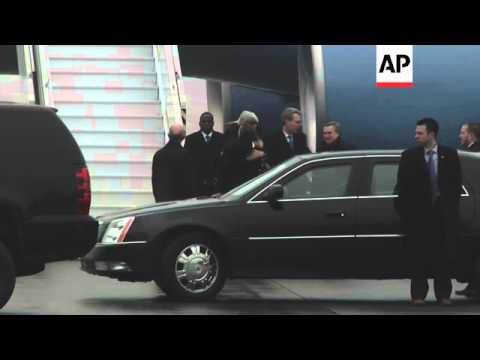 Secretary of State John Kerry arrived in Kiev Tuesday to show support for the country's government.