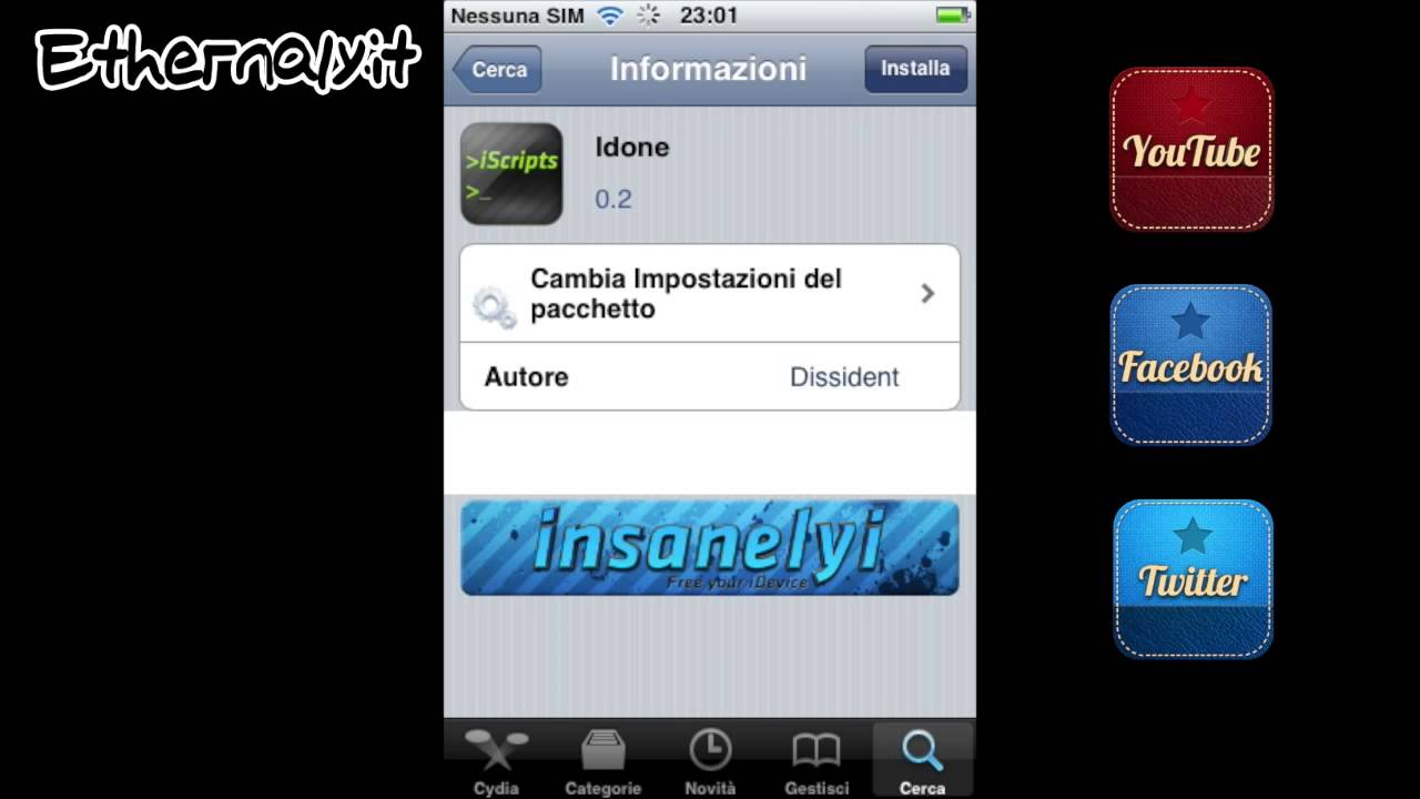 How To - Installare LDONE Cydia iOS  Ethernaly.it - YouTube