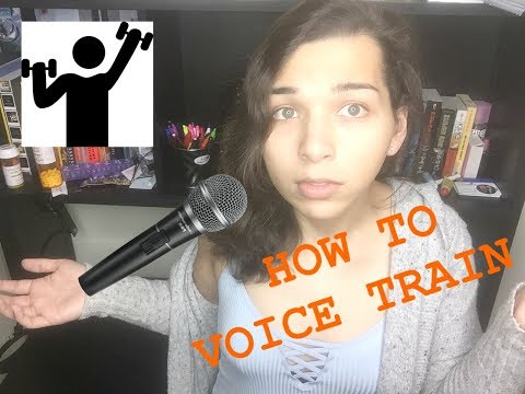 Transsexual voice training