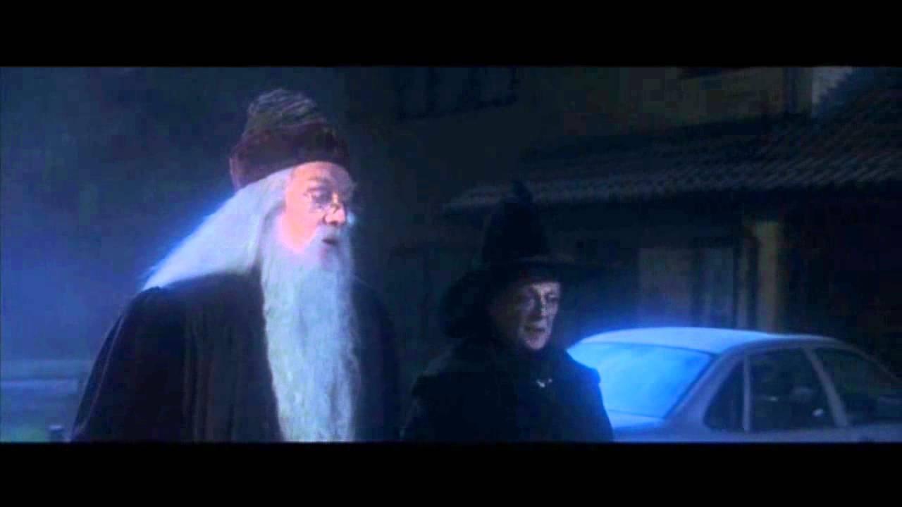 potter harry stone dumbledore philosopher scene opening sorcerer drive privet mcgonagall philosophers might sorcerers moments scar movies don start warner