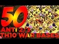 Lagu 50 x ANTI 2/3 STAR TH10 War Bases For Your Clan Wars!! | Clash of Clans