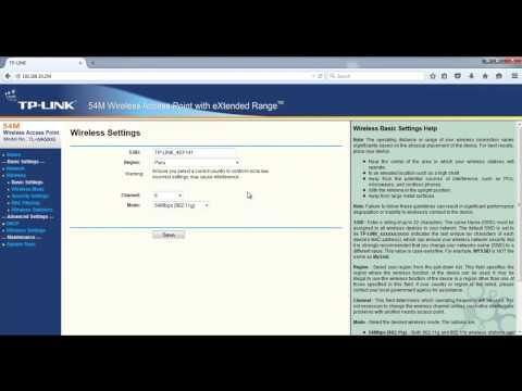 Configuración paso a paso TL-WA500G Modo Access Point