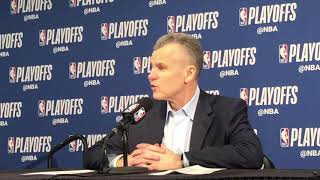 Thunder vs Blazers Game 1: Billy Donovan