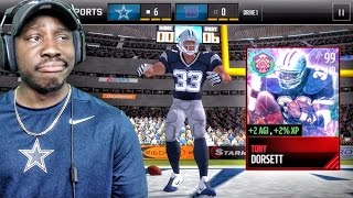 99 TONY DORSETT TAUNTING OPPONENTS & EASTER PACK OPENING! Madden Mobile 17 Gameplay Ep. 33