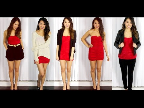 1 Red Dress 5 Valentines Day Outfits YouTube