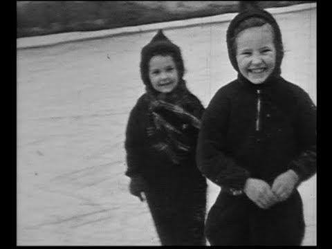 Bárdos család, tél (1941, Budapest, jégpálya)