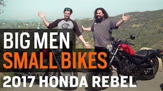 Big Men, Small Bikes - The Honda Rebel From Then to Now at RevZilla.com