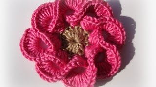 Download 3D crochet flowers multi petals  - 1 3Gp Mp4
