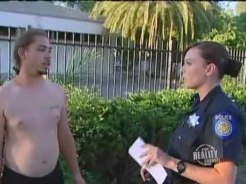 Female Police Officer Makes Arrest On Patrol