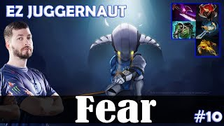 Fear - Sven Safelane | EZ JUGGERNAUT | Dota 2 Pro MMR Gameplay #10