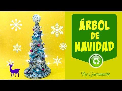 Manualidades de Navidad: Árbol con luces. Christmas tree.