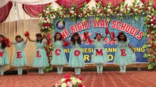 Welcome Performance Annual Function 2019 Presented by The Right Way Schools Sargodha