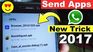 Send Apps or Games on WhatsApp New Trick 2017