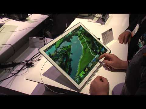 NAB 2013 Booth V31 - Panasonic 4k Display - Tablet - Windows 8