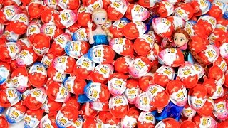 100 Cars Surprise Eggs Huge Kinder Joy Surprise Eggs Unboxing Cars Edition
