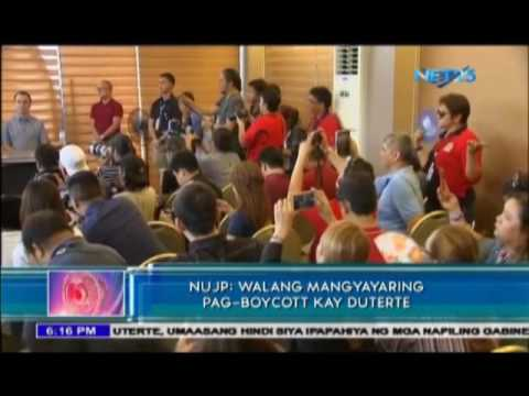No media boycott against Duterte