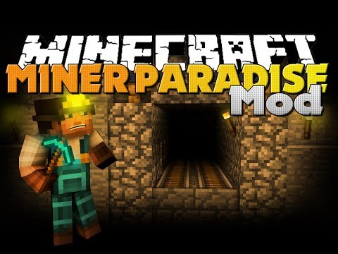 Minecraft Mod - Miner Paradise Mod - New Armor. Items. and Dimension