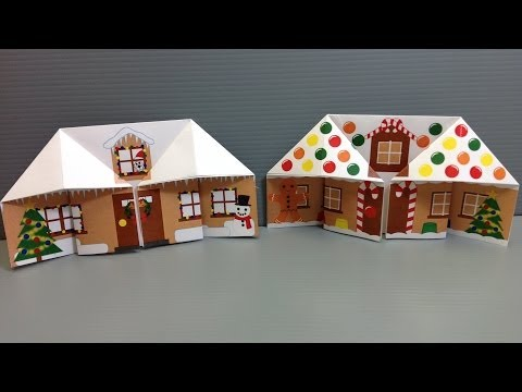 Make Your Own Origami Christmas Gingerbread House Iq