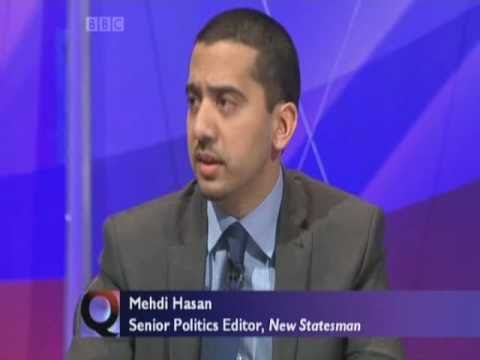 Mehdi Hasan - Question Time part 1 of 6 10.02.11
