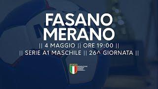 Serie A1M [26^]: Fasano - Merano 32-19