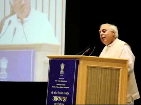 "Shri Kapil Sibal, Minister of Communications and Information Technology ""Akash Tablet"""
