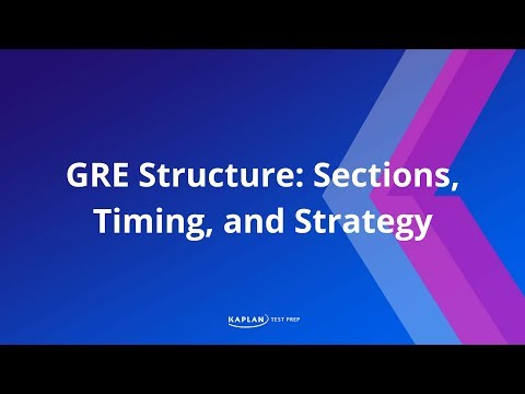 GRE Structure: Sections, Timing, and Strategy | Kaplan Test Prep