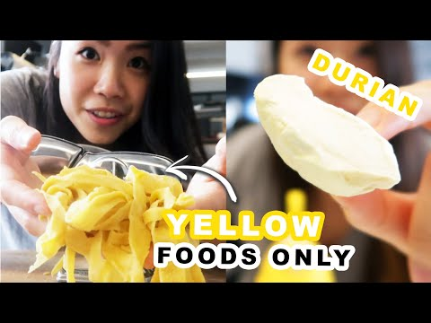 I Only Ate Yellow Foods For 24 Hours