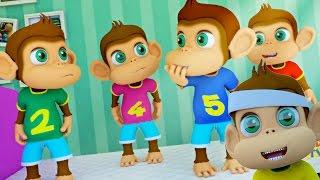 Five Little Monkeys Jumping On The Bed   Nursery Rhymes   Kids Songs   Kids Tv Nursery Rhymes