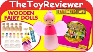 Craft for the Love Wooden Fairy Dolls Deluxe Craft Kit DIY Unboxing Toy Review by TheToyReviewer