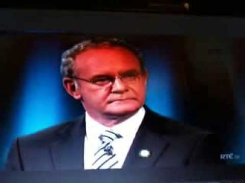 Girl tells Martin McGuinness he's not from Ireland