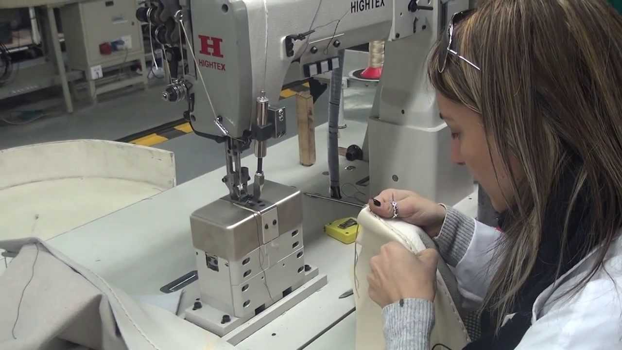 Double Needle Upholstery Sewing Machine For Topstitching