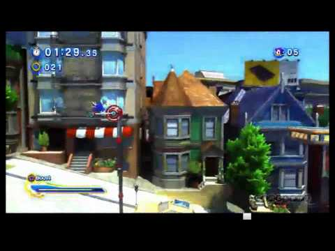 Sonic Generations - E3 Sonic Modern in City Escape Gameplay