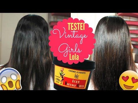 Creme Alisante Lola Vintage Girls| Passo a Passo ..Antes e Depois