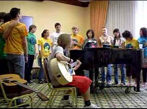 Exchange students  district 6650 sing imagine by John Lennon