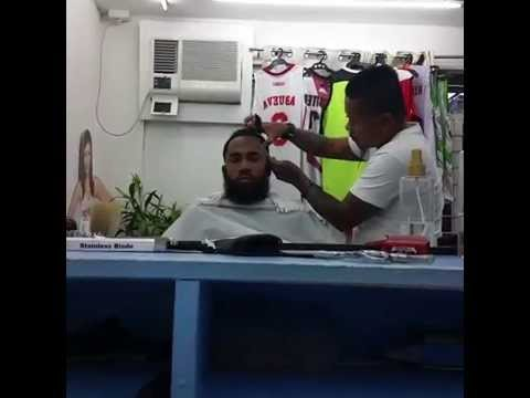 Stanley Pringle gets the barbers hair cut day but no shaving with his bad ass  Harden beard
