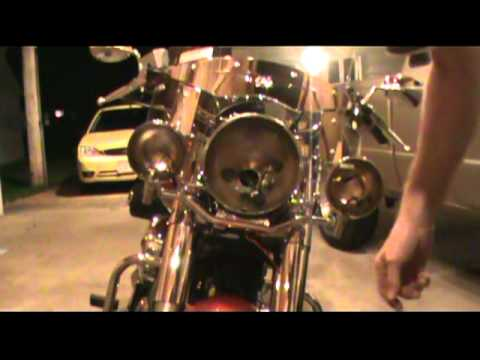 2008 Yamaha V Star 1100 Classic Passing Light Install Part 2.mpg