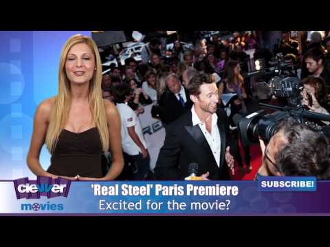 Hugh Jackman Premieres 'Real Steel' In Paris