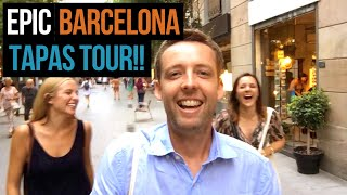 BEST Tapas in Barcelona! 🙌 We visit 8 AMAZING tapas bars!