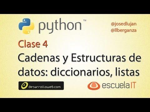 Taller de Python cadenas, diccionarios, listas