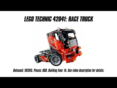 'Lego Technic 42041 Race Truck' Unboxing. Speed Build & Review   Sariel's LEGO Technic Den