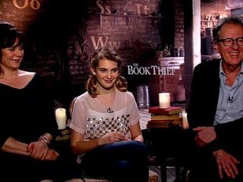 Geoffrey Rush, Sophie Nelisse & Emily Watson talk The Book Thief