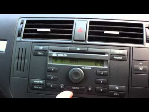 Ford 6000CD System - 60 second how to change the clock