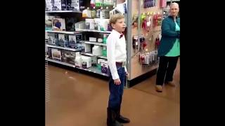 little boy yodeling in walmart