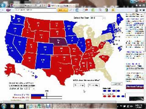 Obama Vs Romney Electoral College Map Youtube