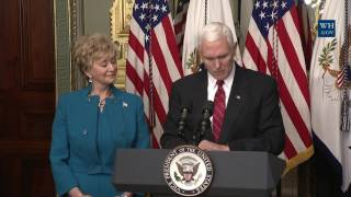 Swearing-in of Small Business Administrator Linda McMahon