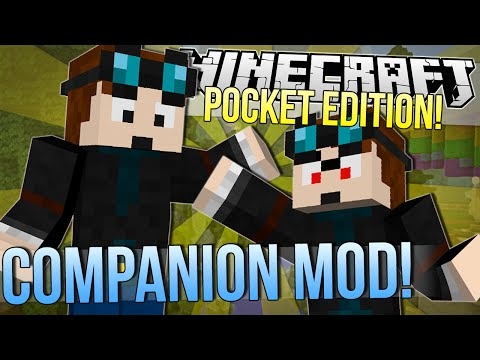 Minecraft Pocket Edition COMPANION MOD Mod Showcase 0.9.4