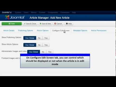 Joomla 3.0 - Add an Article