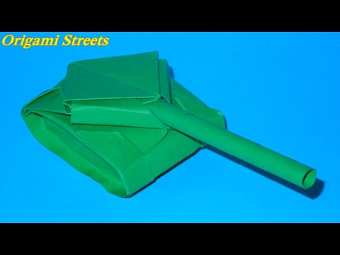 How to make a tank out of paper. Origami tank with my hands. - YouTube